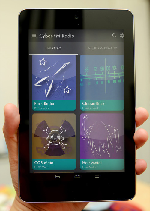 CyberFM Mobile App with Autodetection
